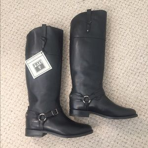 NWT Frye Black Riding Boots Size 7